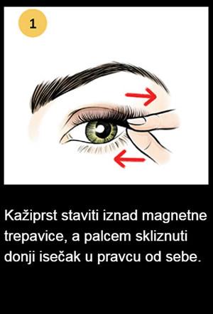 korak 1 skidanje magnetnih